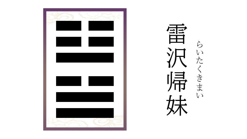 雷沢歸妹(らいたくきまい)